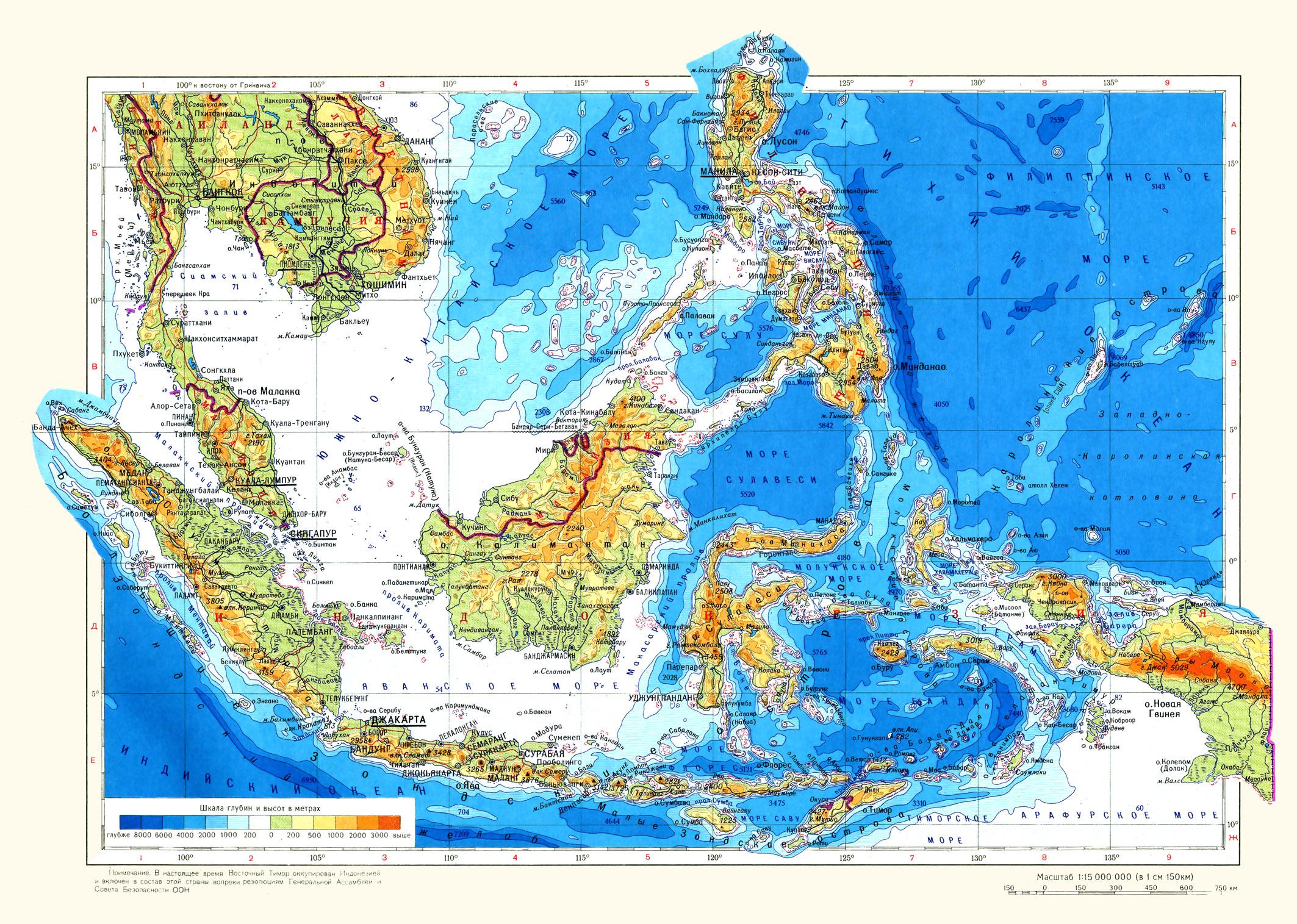 Где находятся филиппинские острова карта мира