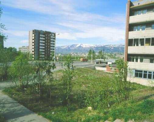 Вид города.